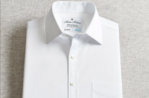 COOLMAX® technology powers a new line of breathable Brooks Brothers cooling dress shirts with moisture-wicking performance.