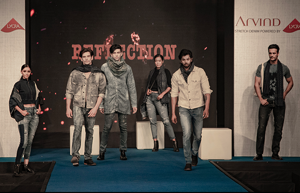 Catwalk show introducing the Arvind Festive 2020 Denim collection with LYCRA® brand