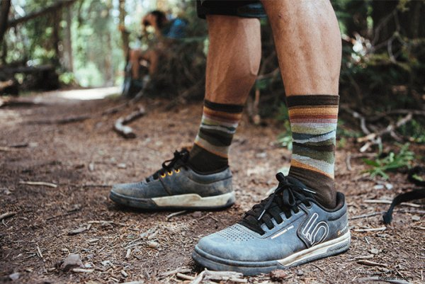 Farm to Feet™ brand's Max Patch performance socks for men feature LYCRA® fiber.